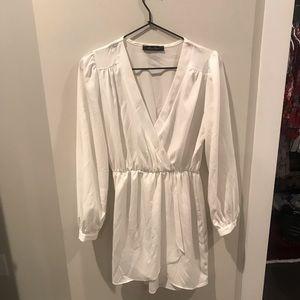 White long sleeve honey punch dress